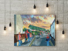 st james park ecfc  going to the match canvas a2 size
